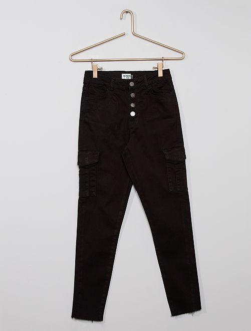 Pantalón cargo eco-concepción                                                     negro