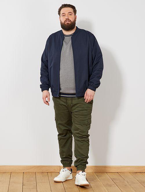 Pantalón cargo estilo jogging                                         verde selva Tallas grandes hombre