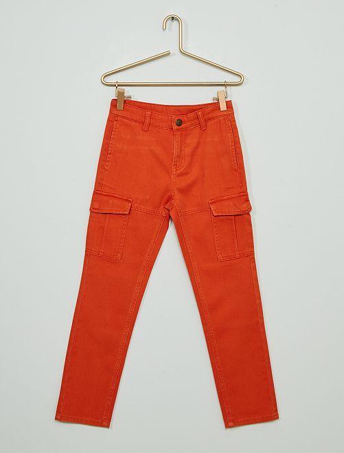 Pantalón cargo                                         naranja