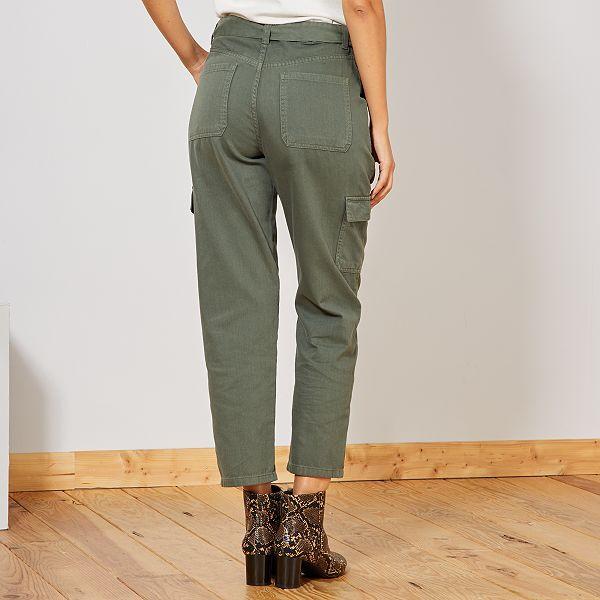 variété de dessins et de couleurs prix bas acheter en ligne Pantalón cargo Mujer talla 34 a 48 - verde tomillo - Kiabi ...