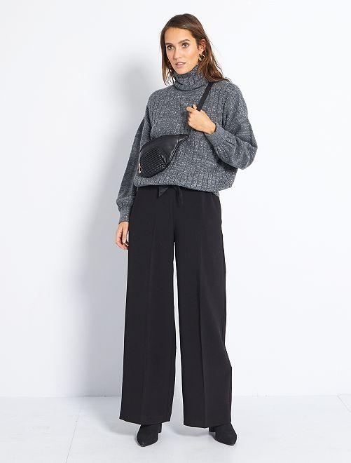 Pantalón chic ancho                             negro