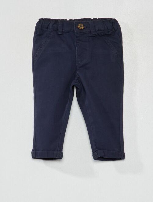 Pantalón chino                                                                             azul
