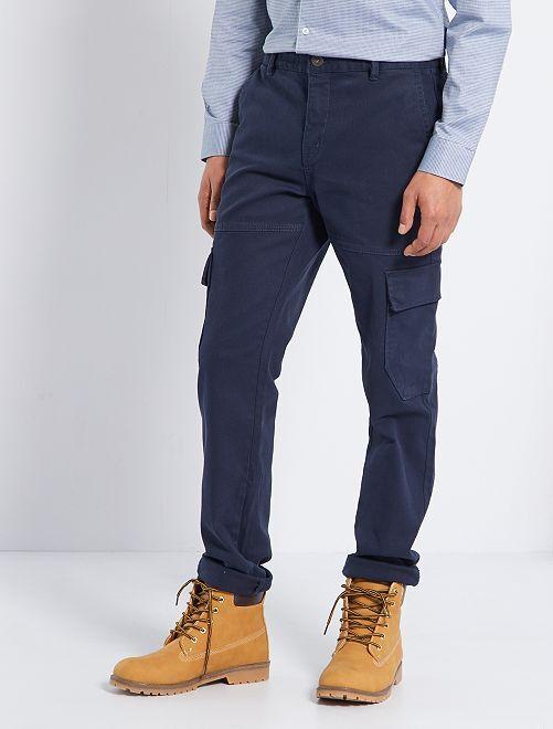 Pantalón chino cargo                                         AZUL