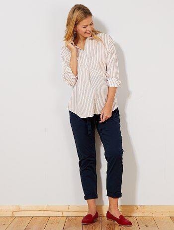 Premama - Pantalón chino + cinturón - Kiabi 63dd51d350a5