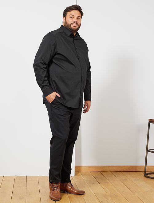 Pantalón chino + cinturón                             negro Tallas grandes hombre