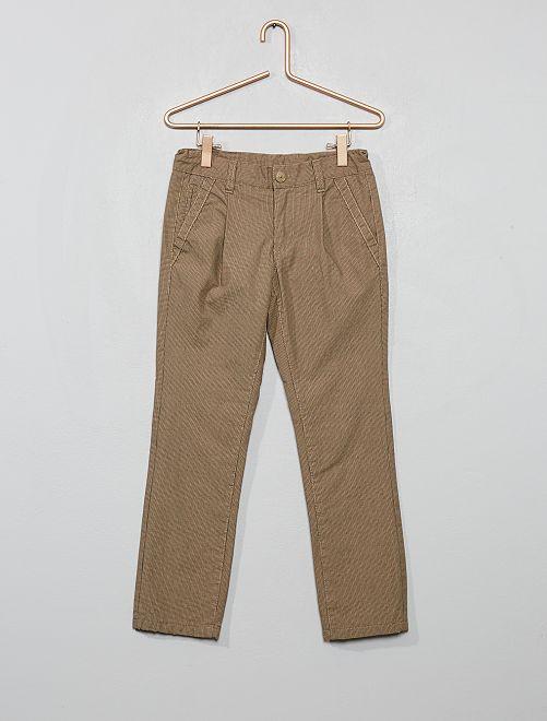 Pantalón chino con forro                                         BEIGE