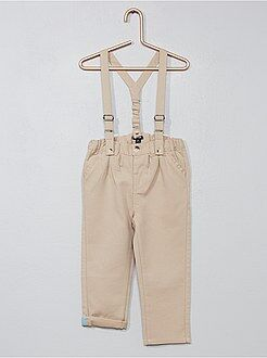 Pantalones - Pantalón chino con tirantes - Kiabi