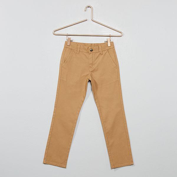 diseño innovador e11c8 0b334 Pantalón chino de algodón de corte recto Chico - BEIGE ...
