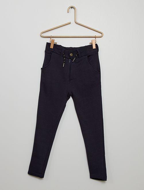 Pantalón chino de felpa                                                     azul marino