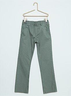 Pantalones - Pantalón chino de lona