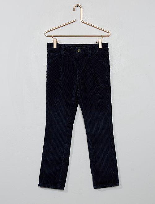 Pantalón chino de pana                                         azul