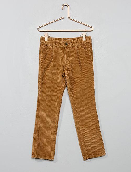 Pantalón chino de pana                                         BEIGE