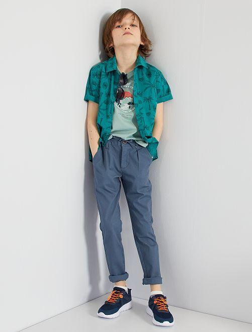 Pantalón chino de sarga                                                                 AZUL