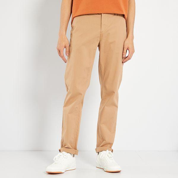 amplia selección sensación cómoda diseño novedoso Pantalón chino de sarga de algodón elástica