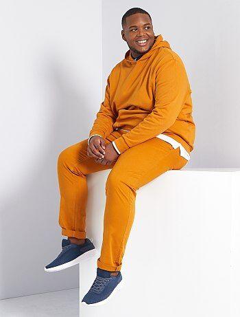 Pantalones Tallas Grandes Hombre Marron Kiabi
