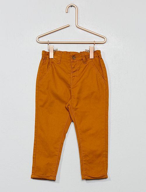 Pantalón chino de sarga ligera                                                                             AMARILLO Bebé niño