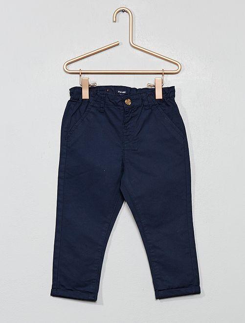 Pantalón chino de sarga ligera                                                                             azul Bebé niño
