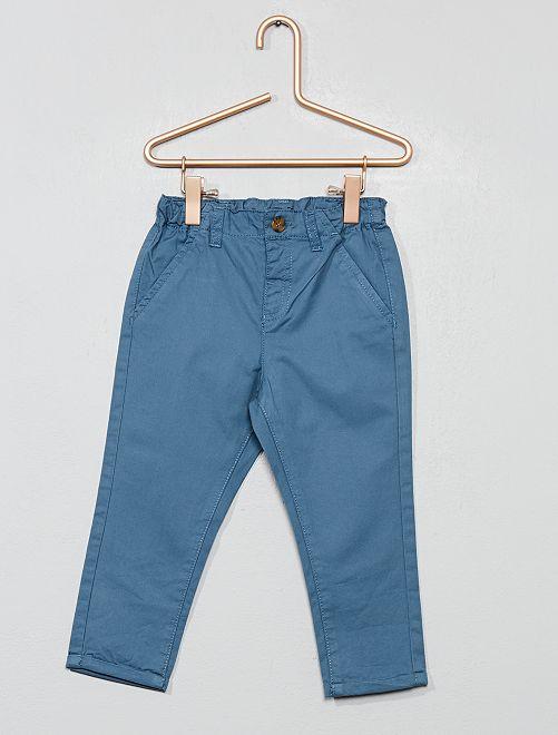 Pantalón chino de sarga ligera                                                                             azul china