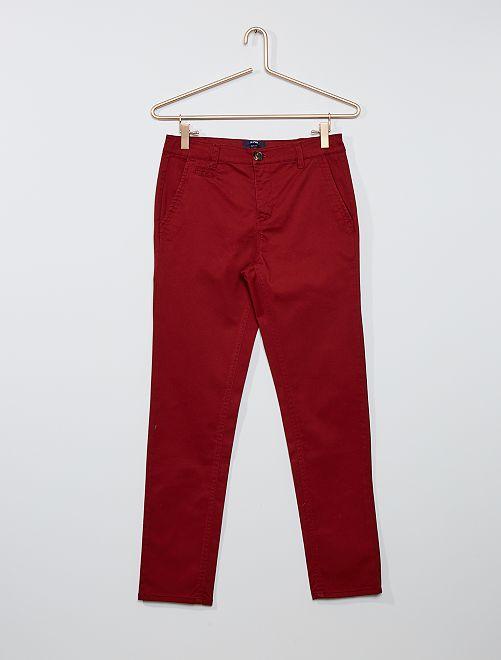 Pantalón chino de sarga                                                     ROJO