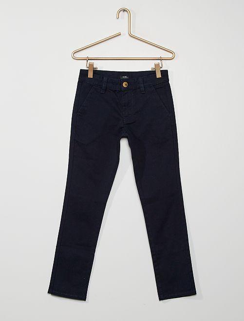 Pantalón chino 'eco-concepción'                                                                                                     azul