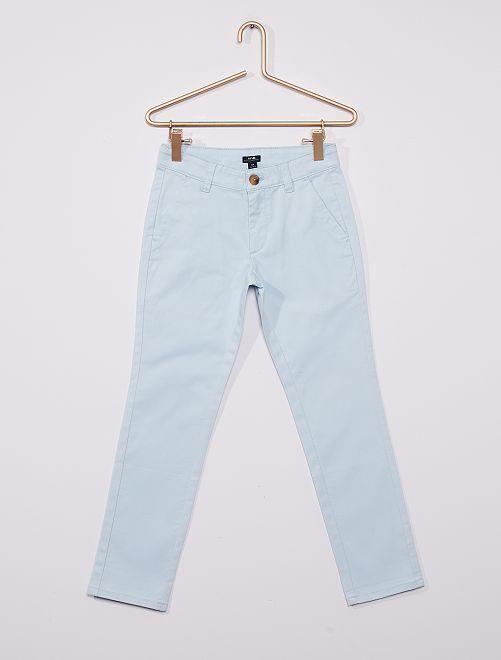 Pantalón chino 'eco-concepción'                                                                                                     gris azul