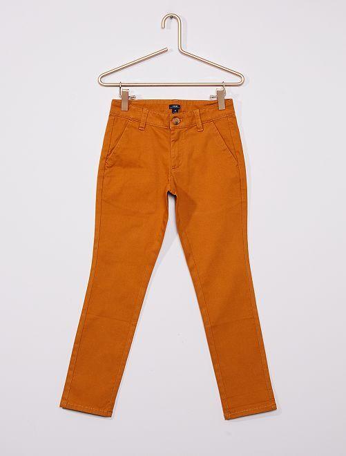 Pantalón chino 'eco-concepción'                                                                                                     marrón