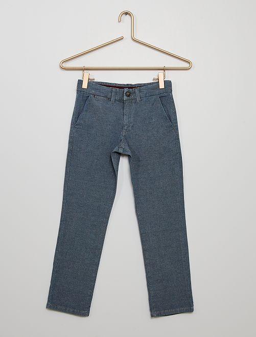 Pantalón chino eco-wash                             AZUL