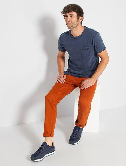 Pantalón chino elástico                                                                                                                 NARANJA