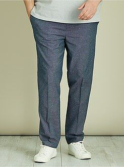 Pantalones - Pantalón chino entallado de piqué de algodón - Kiabi