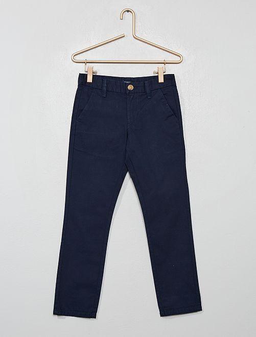 Pantalón chino recto                                         azul