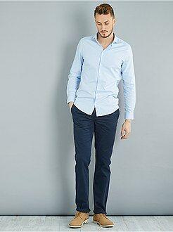 Pantalones - Pantalón chino recto de algodón puro L36 +1,90m - Kiabi