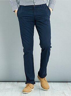 Pantalones - Pantalón chino recto de algodón puro L38 +1,90m - Kiabi