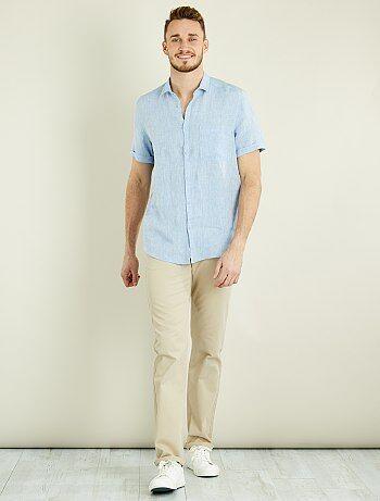 7c28499717 Hombre de más de 1 90m - Pantalón chino recto de algodón puro L38 +