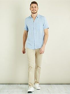 Hombre de mas de 1'90m - Pantalón chino recto de algodón puro L38 +1,90m - Kiabi