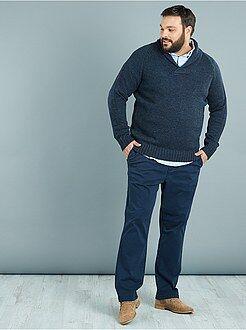 Pantalones casual - Pantalón chino recto de sarga