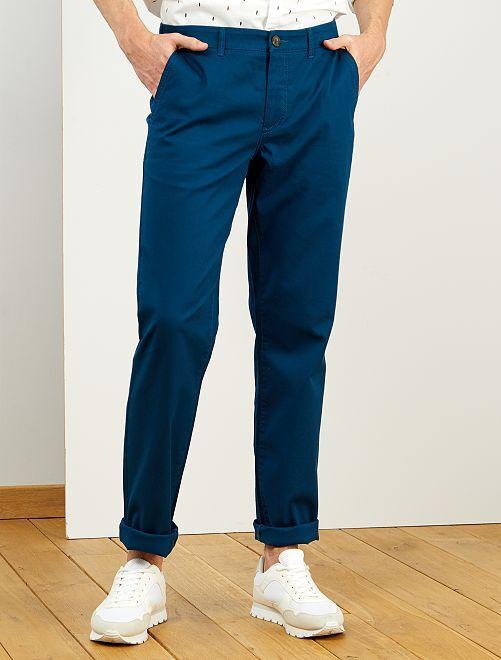 Pantalón chino recto L36 +1,90 m                                                                 azul poseidon
