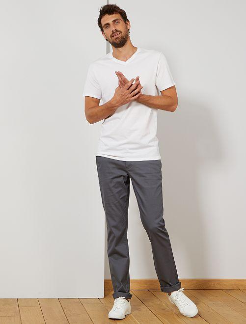Pantalón chino recto L36 +1,90 m                                                                             GRIS