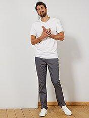 Pantalones Chinos Tallas Grandes Hombre Gris Kiabi