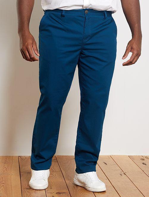 Pantalón chino recto oxford                                                                 azul poseidon