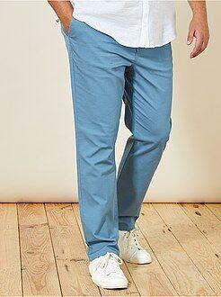 Pantalón chino recto oxford - Kiabi
