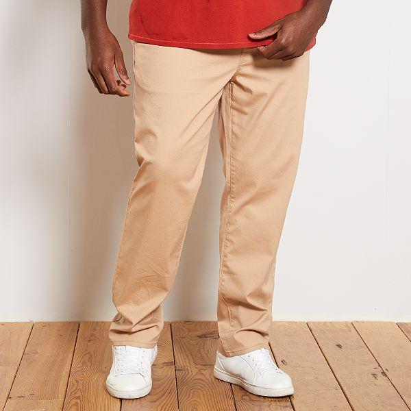 Pantalones Chinos Tallas Grandes Hombre Negro Kiabi