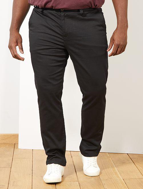 Pantalón chino recto oxford                                                                             negro