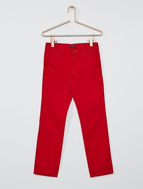 Pantalón chino recto                                                                 rojo