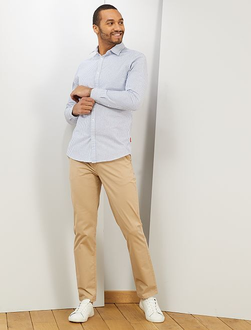 Pantalón chino regular                                                                 BEIGE