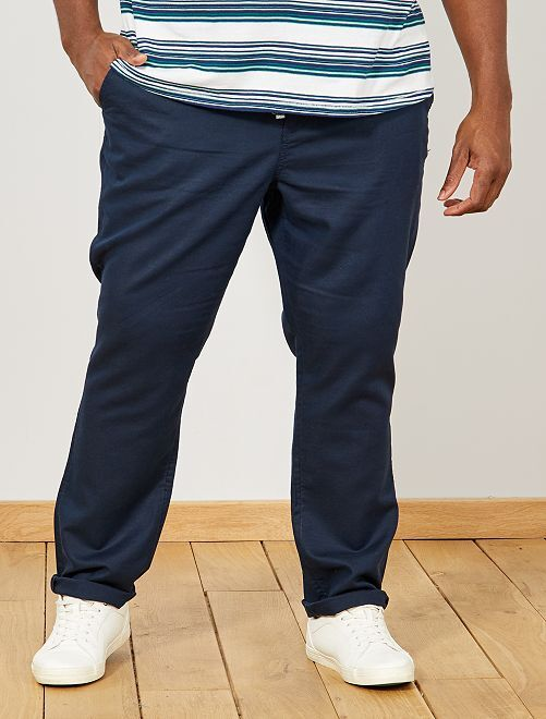 Pantalón chino regular de twill                     AZUL