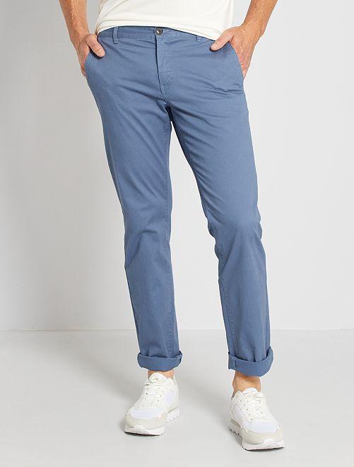 Pantalón chino regular L30 eco-concepción                                                                                                                             AZUL