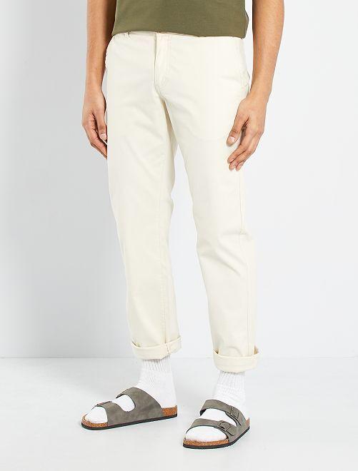 Pantalón chino regular L30 eco-concepción                                                                                                                                                                 beige
