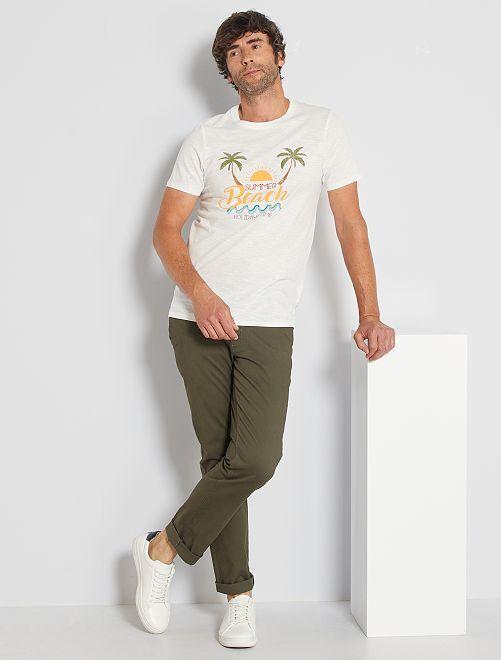 Pantalón chino regular L30 eco-concepción                                                                                                                             KAKI