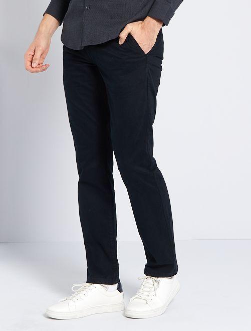 Pantalón chino regular L30 eco-concepción                                                                                                                                                                 negro