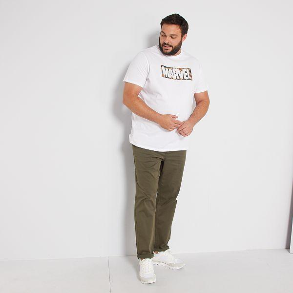 Pantalon Chino Regular L30 Tallas Grandes Hombre Kaki Kiabi 20 00